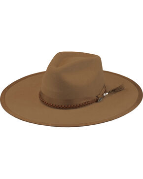 Justin Men's Pecan 7X Fur Felt Magnificent Hat, Pecan, hi-res