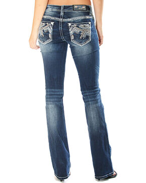 Grace in LA Women's Easy Fit Embellished Jeans - Boot Cut , Indigo, hi-res