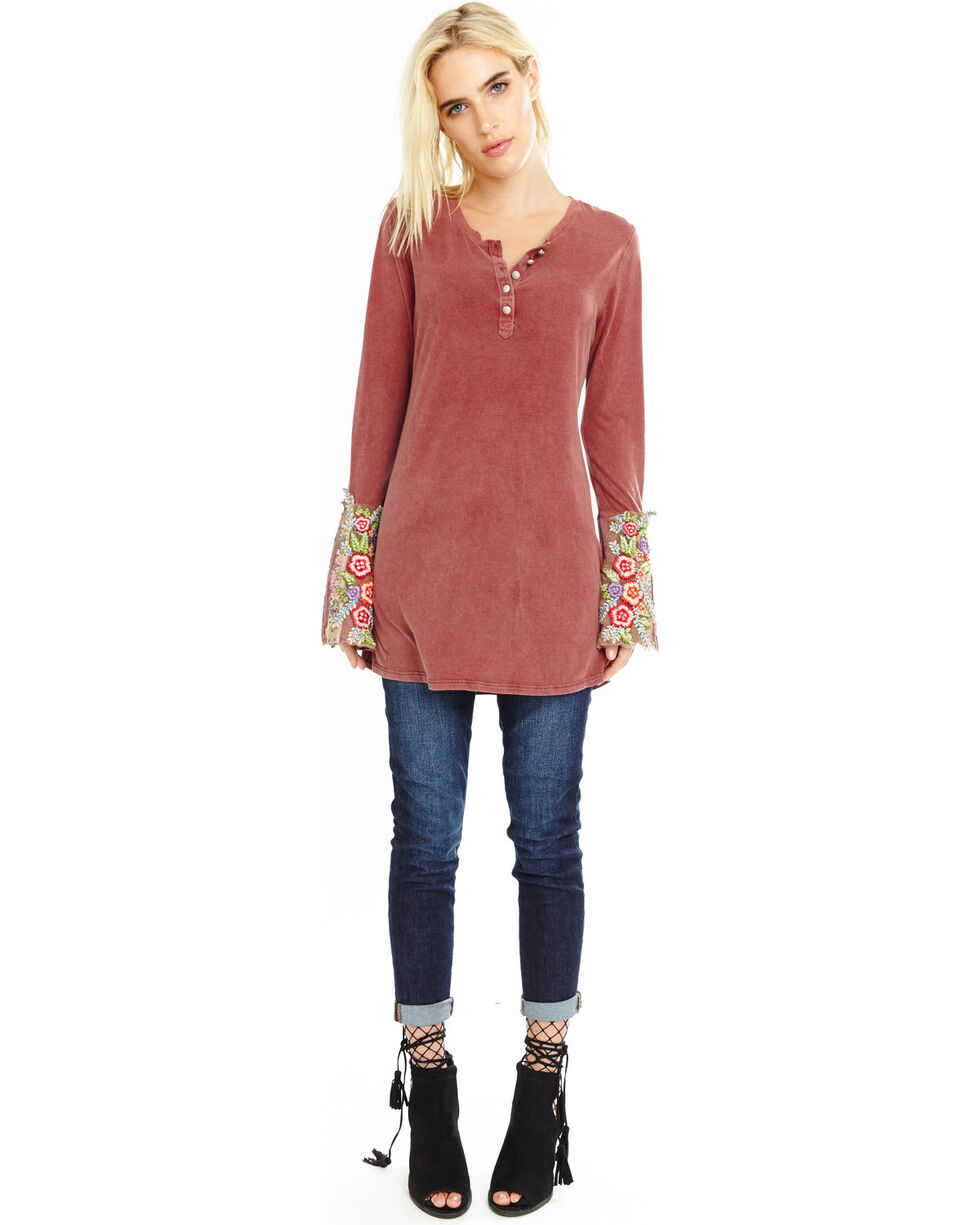 Aratta Women's Mauve Merry Knit Top , Mauve, hi-res