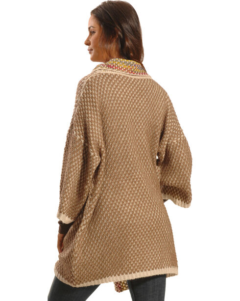 Lawman Women's Knitted Open Cardigan, Brown, hi-res