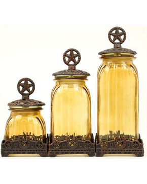 Western Moments Silverado Western Star Canisters - Set of 3, Brown, hi-res