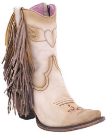 Junk Gypsy by Lane Cream Spirit Animal Ankle Boots - Snip Toe , Cream, hi-res