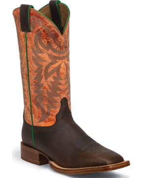 Justin Men's Grizzly CPX Western Boots, Chocolate, hi-res