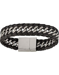 Montana Silversmiths Men's Stainless Steel Tread Bracelet, , hi-res