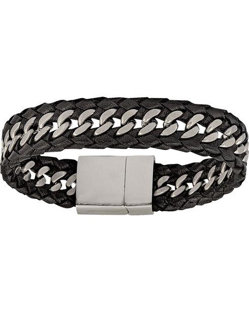 Montana Silversmiths Men's Stainless Steel Tread Bracelet, Silver, hi-res