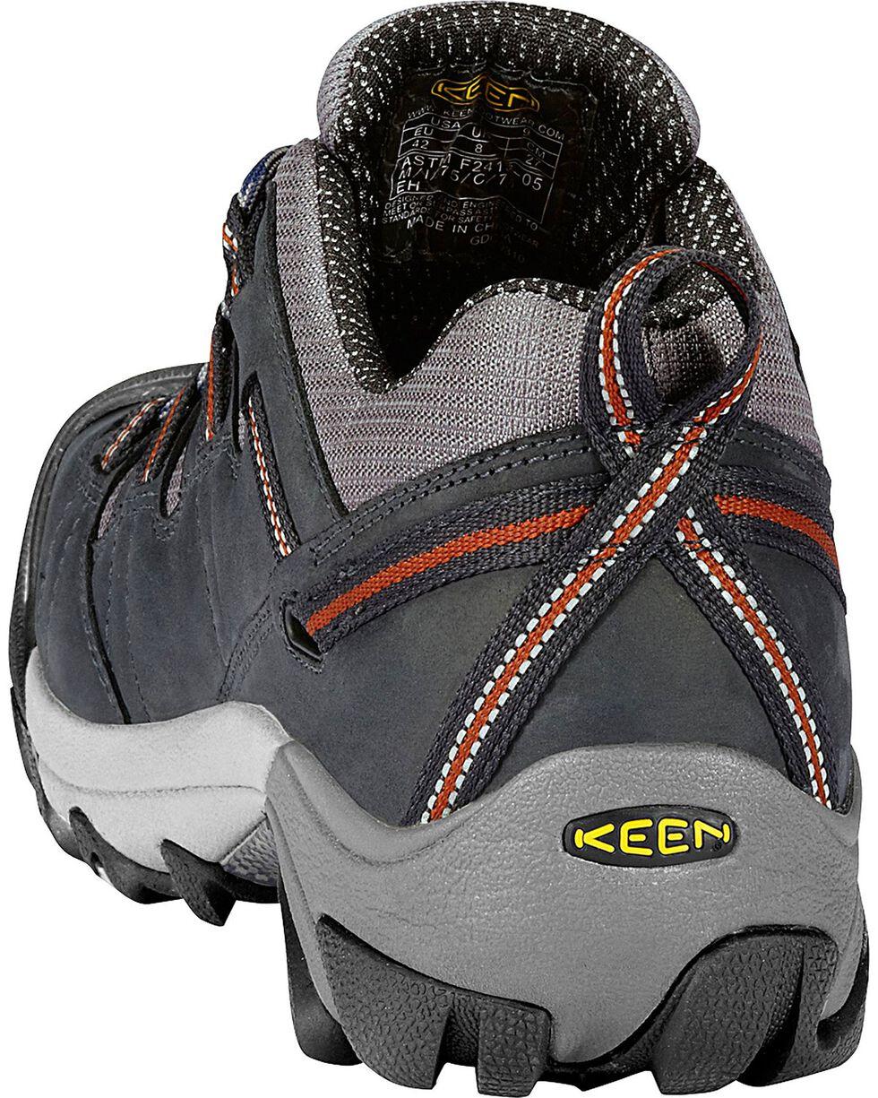 Keen Men's Detroit Low Steel Toe Shoes, Dark Grey, hi-res