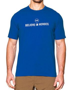 Under Armour Men's Believe in Heroes Short Sleeve Tee, Royal Blue, hi-res
