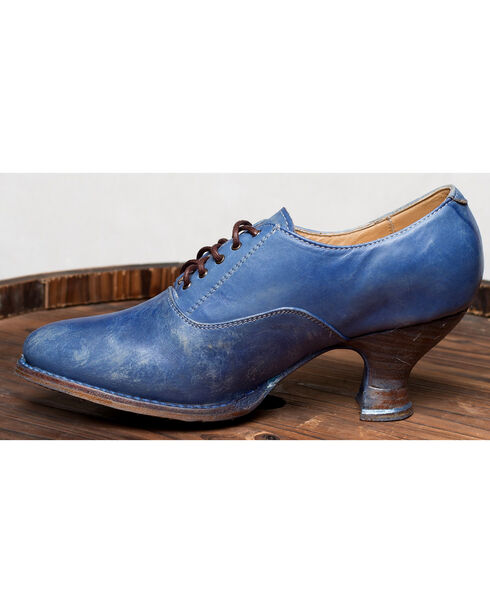 Oak Tree Farms Janet Blue Heels - Medium Toe, Blue, hi-res