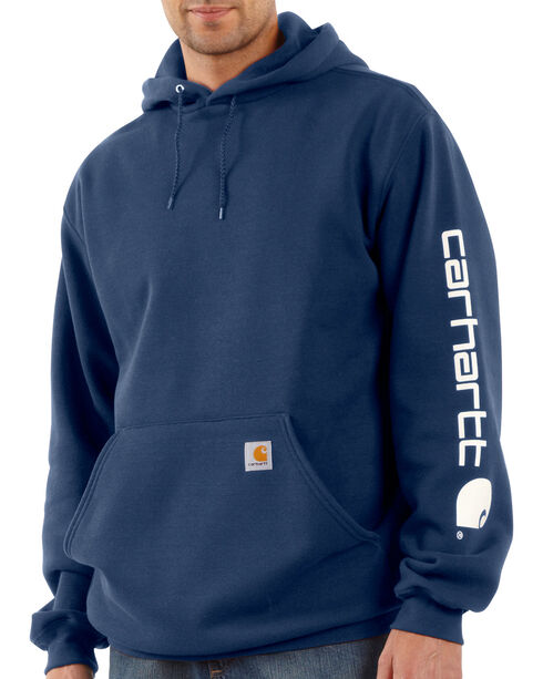 Carhartt Men's Hooded Logo-Sleeve Sweatshirt, , hi-res