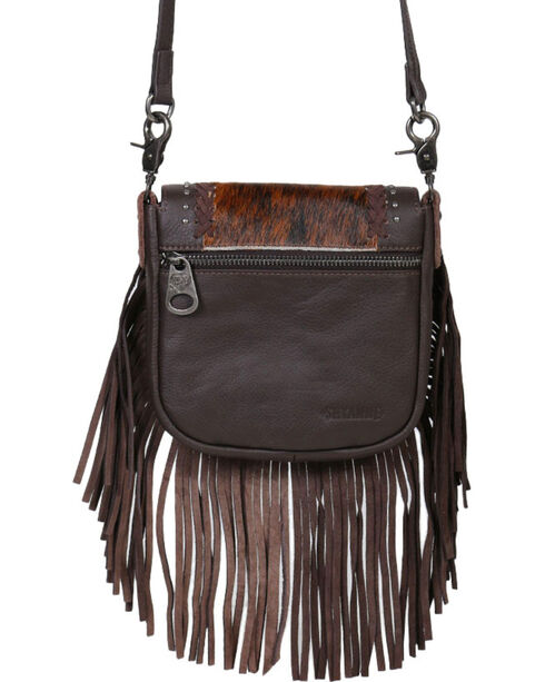 Shyanne® Women's Fur Fringe Crossbody Bag, Black, hi-res