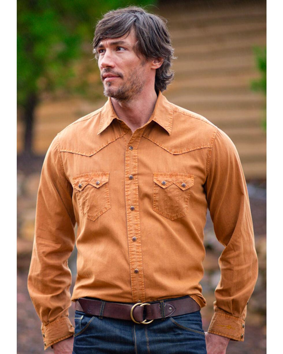 Ryan Michael Men's Rye Saw Tooth Western Shirt  , Light/pastel Orange, hi-res