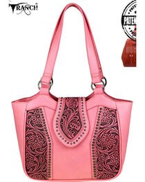 Trinity Ranch Women's Tooled Leather Conceal Carry Tote, , hi-res