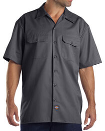 Dickies Men's Charcoal Flex Twill Work Shirt , , hi-res