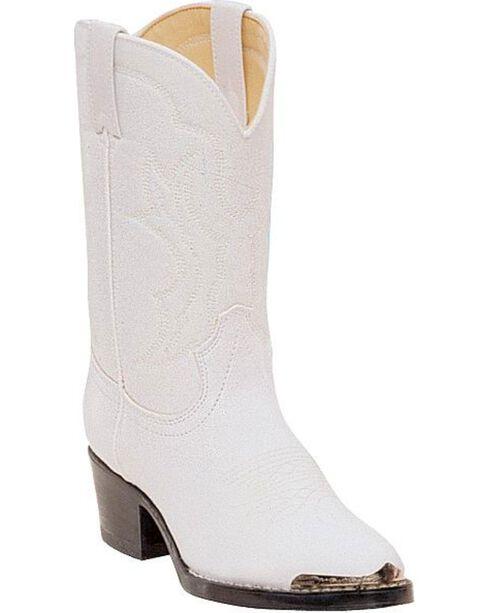 Durango Children's Western Boots, White, hi-res