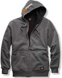 Timberland PRO Men's Grey Double-Duty Full-Zip Sweatshirt , Charcoal Grey, hi-res