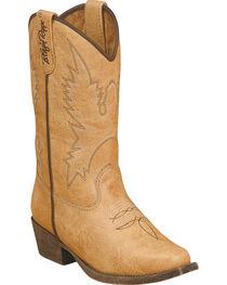 Blazin Roxx Girls' June Zipper Cowgirl Boots - Snip Toe, , hi-res