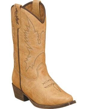 Blazin Roxx Girls' June Zipper Cowgirl Boots - Snip Toe, Tan, hi-res