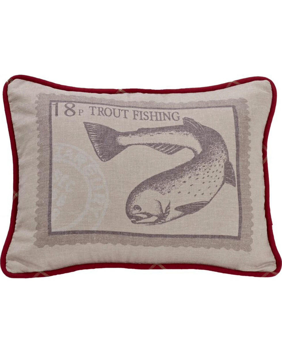 HiEnd Accents South Haven Trout Throw Pillow, Multi, hi-res