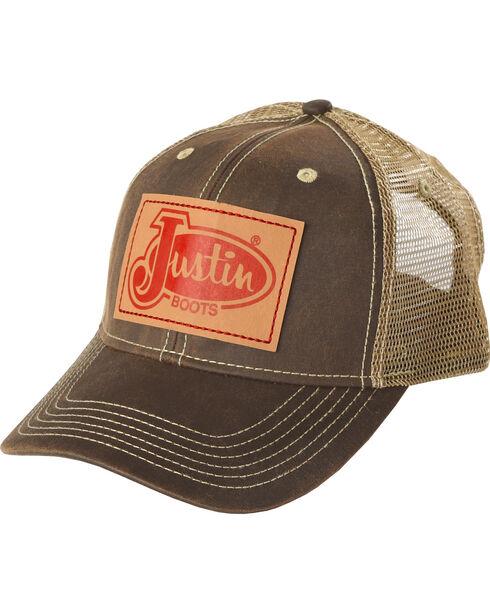 Justin Men's Vintage Patch Ball Cap, Brown, hi-res