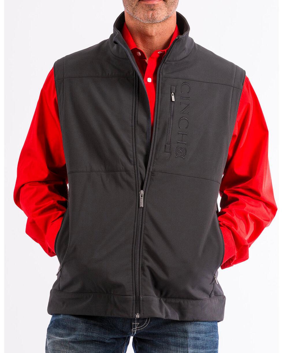 Cinch Men's Black Bonded Concealed Carry Zip Up Vest , , hi-res