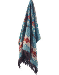 Carstens Turquoise Chamarro Throw Blanket, , hi-res