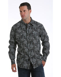 Cinch Men's Garth Brooks Paisley Long Sleeve Shirt, , hi-res