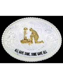 Montana Silversmiths Some Gave All Belt Buckle, , hi-res
