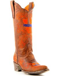 Gameday University of Virginia Cowboy Boots - Pointed Toe, , hi-res