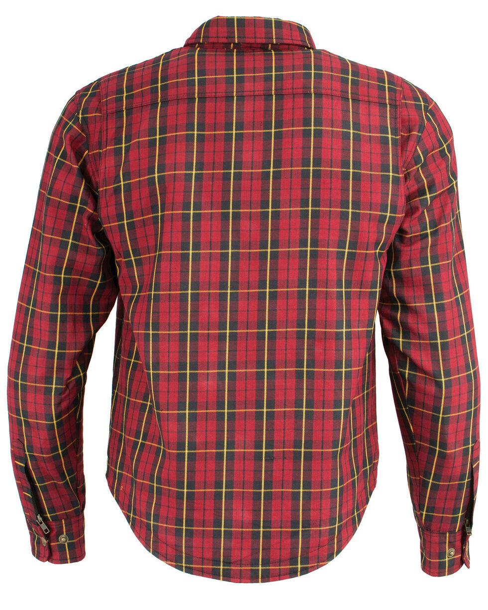 Milwaukee Performance Men's Aramid Reinforced Checkered Flannel Biker Shirt - 4X, Black/red, hi-res
