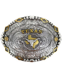 Cody James® Men's Oval Texas Longhorn Belt Buckle, , hi-res