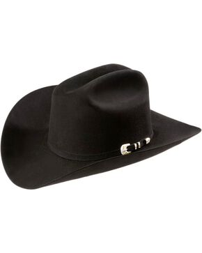 Larry Mahan Superior 500X Fur Felt Western Hat, Black, hi-res