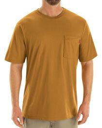 Red Kap Men's Brown Solid T-Shirt , , hi-res