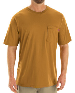 Red Kap Men's Brown Solid T-Shirt , Brown, hi-res