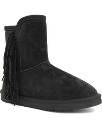 Lamo Women's Sellas Short Fringe Winter Boots - Round Toe, , hi-res