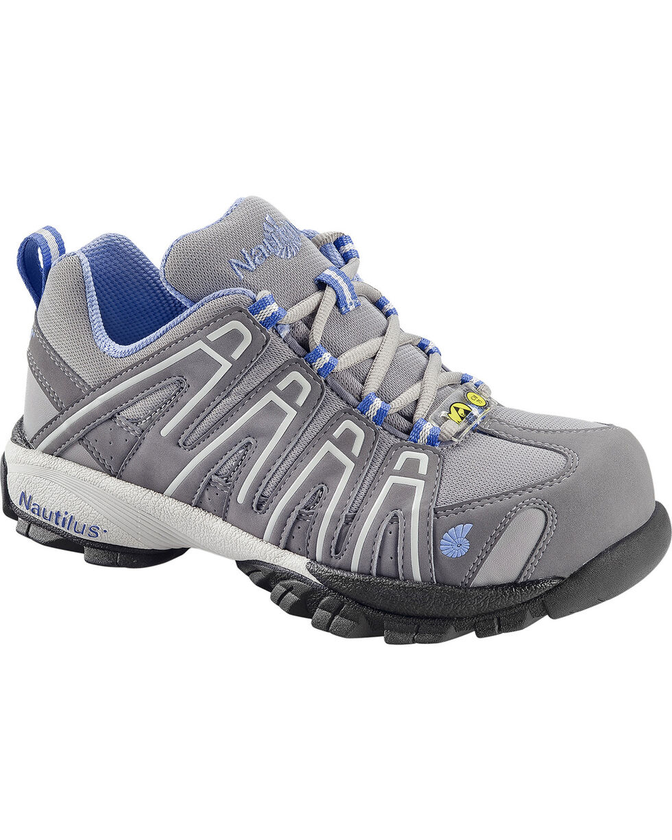 Nautilus Women's ESD  Lace Up Work Shoes, Grey, hi-res