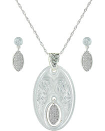 Montana Silversmiths Women's Silver The Fairest One Of All Jewelry Set , , hi-res