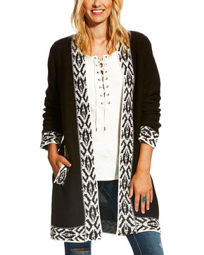 Ariat Women's Black Lander Cardigan , Multi, hi-res