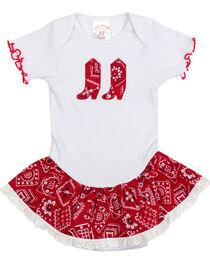 Kiddie Korral Infant Girls' Bandanna Ruffle Onesie , , hi-res