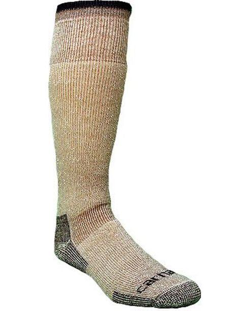 Carhartt Men's Arctic Wool Heavyweight Boot Socks, Brown, hi-res