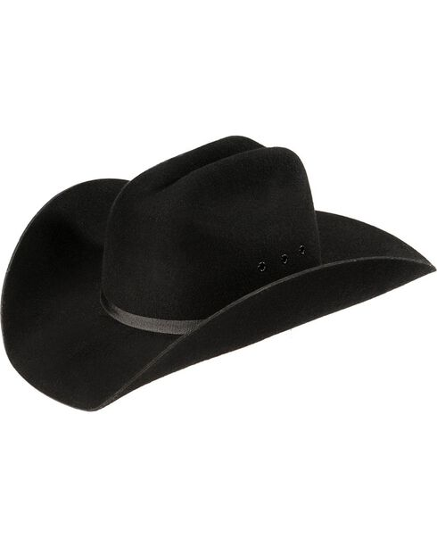 M&F Western Kids' Wool Felt Cattleman Cowboy Hat, Black, hi-res