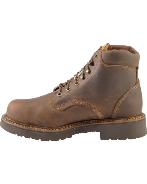 """Justin Men's 6"""" Rugged Steel Toe Work Boots, Bay Apache, hi-res"""