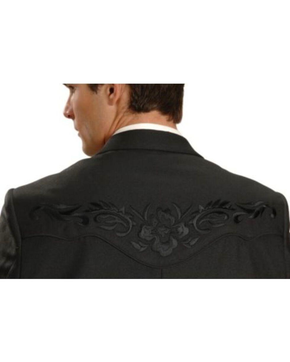Scully Men's Retro Floral Embroidered Sport Coat, Black, hi-res
