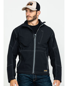Ariat Men's Rebar Canvas Softshell Jacket , Black, hi-res