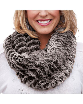 Shyanne® Women's Faux Fur Eternity Scarf, Black, hi-res