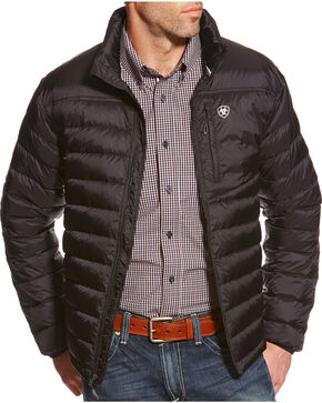 Ariat Men's Ideal Down Jacket II, Black, hi-res
