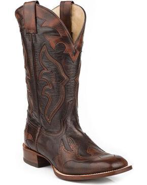 "Stetson Men's Ryder 11"" Boots - Square Toe, Dark Brown, hi-res"