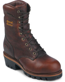 "Chippewa 9"" Insulated Waterproof Super Logger Boots - Steel Toe, , hi-res"