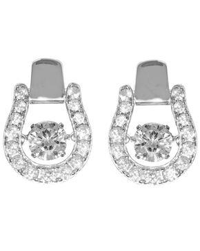 Kelly Herd Women's Silver Dancing Stone Oxbow Post Earrings , Silver, hi-res