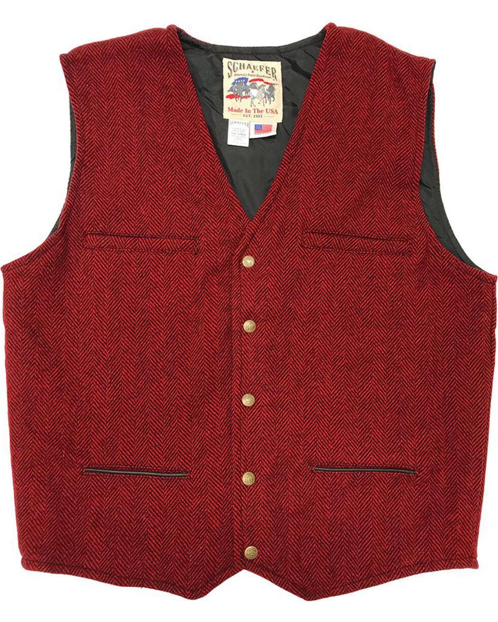 Schaefer Outfitter Men's Red Mckenzie Wool Vest, Red, hi-res