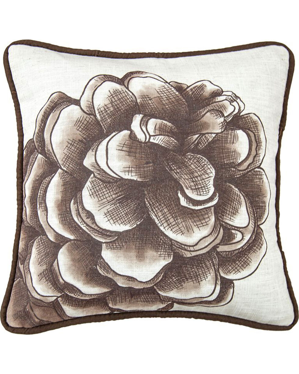HiEnd Accents Pine Cone Print Pillow , Multi, hi-res